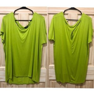 Cable & Gauge - Green Blouse Top  - Size XL